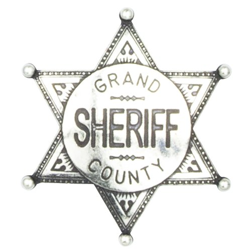 Denix Grand County Sheriff Badge, (Old Metal Pin)