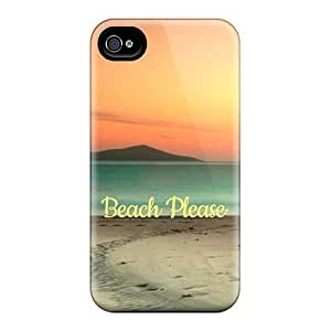 Flexible Tpu Back Case Cover For Iphone 4/4s - Beach Please Summer