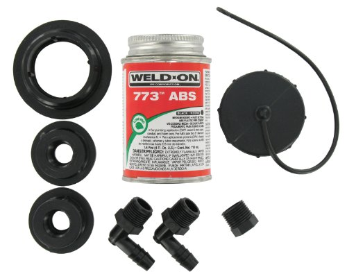 Valterra Black RK909 ABS Tank Fill Kit-Threaded Cap with -