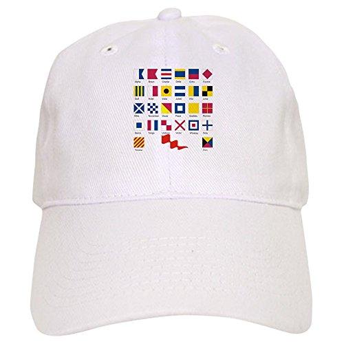 CafePress - Signal Flags.Png - Baseball Cap with Adjustable Closure, Unique Printed Baseball (Signal Flag Hook)