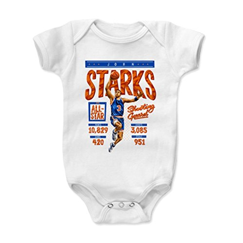 500 LEVEL John Starks New York Knicks Baby Clothes, Onesie, Creeper, Bodysuit (6-12 Months, White) - John Starks Stats O ()