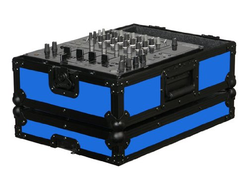 (Odyssey Blue Designer DJ Series 12 DJ Mixer Case - FR12MIXBKBLUE )