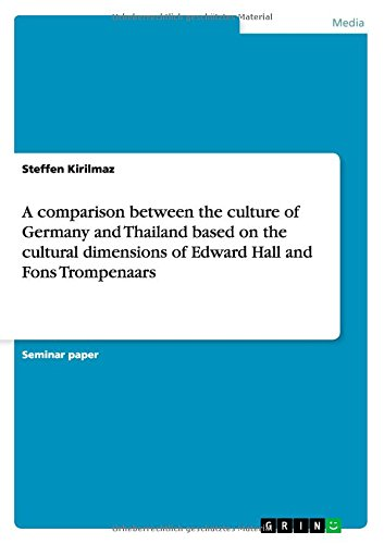 A comparison between the culture of Germany and Thailand based on the cultural dimensions of Edward Hall and Fons Trompe