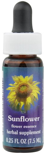 Flower Essence Services Sunflower Dropper Herbal Supplements, 0.25 Ounce