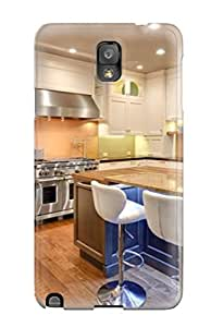 New Style Case Cover PvtdqhX5277EVoQf Large Open Transitional Kitchen With White Cabinetry Compatible With Galaxy Note 3 Protection Case