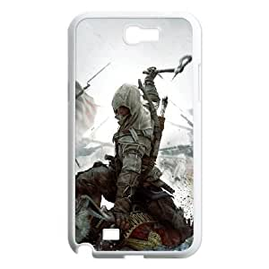 Samsung Galaxy Note 2 7100 White Cell Phone Case Assassins Creed LWDZLW2261 Phone Case Cover Clear Hard