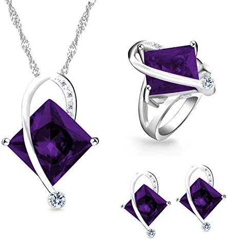 Uloveido Created Necklace Matching Earrings product image