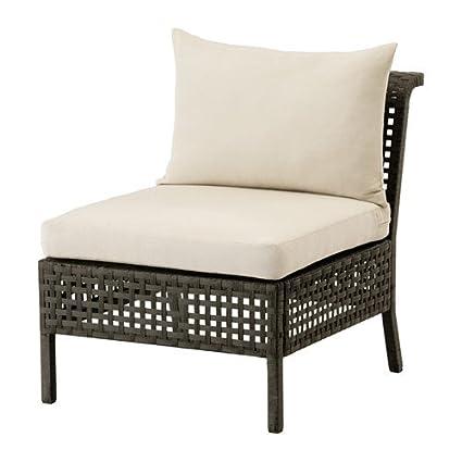 Amazon.com: IKEA Chair, Outdoor, Black-Brown, Beige ...