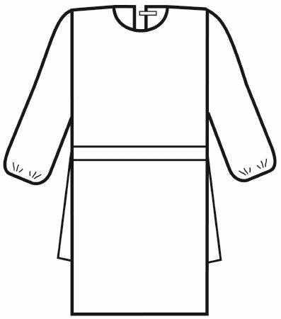 Halyard Protective Procedure Gown - 69191CS - 100 Each / Case