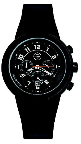 Active Chronograph Mens Watch (Philip Stein Men's 32ABRBB Active Large Chronograph Silicone Strap Watch)