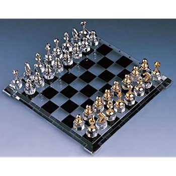 Amazon.com: Crystal Chess Set - Solid alloy chess pieces