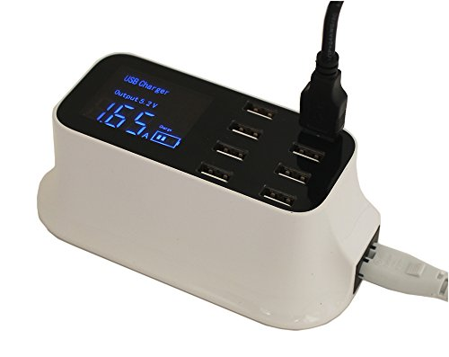 MyCableMart 8 Port USB 8 Amp High Capacity Power Charger with Smart Monitoring by My Cable Mart