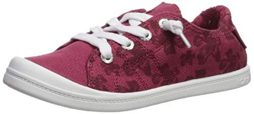 Roxy Girls' RG Bayshore Slip On Sneaker Shoe, red Clay, 4 Medium Youth US Big Kid