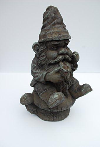 Gnomeo Sitting on a Mushroom Statue Handmade