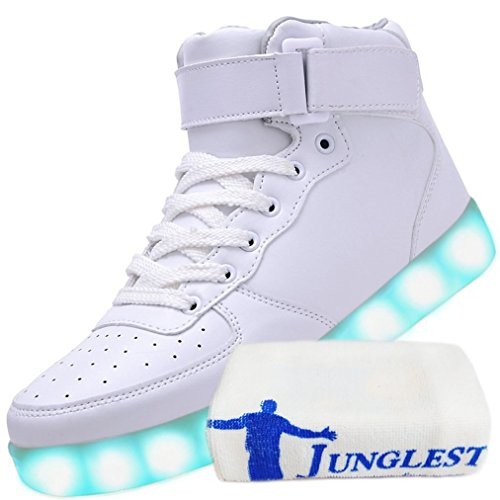 JUNGLEST [+Small Towel] Childrens Shoes USB Charging emitting Light Boys Shoes Girls Shoes Luminous LED Lighted Sports Shoes Big Boy Shoes Style c27 exwxwT
