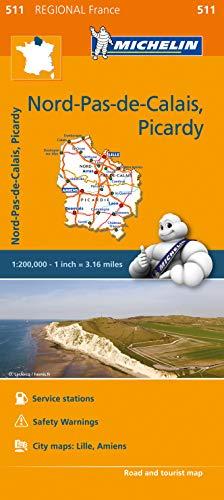 Michelin Regional Maps: France: Nord-Pas-de-Calais, Picardy Map 511