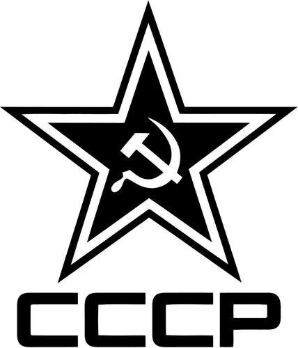 Russia CCCP Star Vinyl Decal Sticker Bumper Car Truck Window- 6