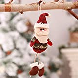 HSQM Hanging Leg Old Man Snowman Fabric Doll Christmas Decorations