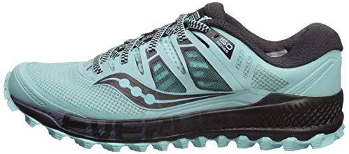 Saucony Women's Peregrine ISO Trail Running Shoe, Aqua/Grey, 6.5 M US by Saucony (Image #5)