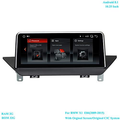 XISEDO 10.25 Inch Car Radio Android 8.1 Car Stereo Autoradio 6-Core RAM 2G ROM 32G Sat Nav Car GPS Navigation for BMW X1 E84(2009-2015) with Orginal Screen/Original CIC System ()