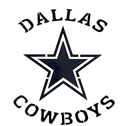 graphic regarding Dallas Cowboys Star Stencil Printable titled : Dallas Cowboys Symbol Stencil Reusable Mancave
