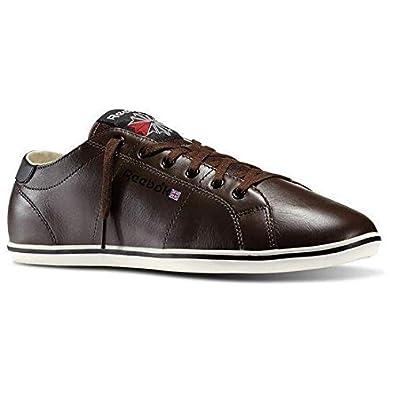 Reebok Classic Leather NPC Plimsole Dark Brown Chalk Black Excellent Red  (7.5 442c5a6fe