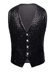 Men's Sleeveless Casual Sequin Vest
