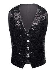 Men's Sleeveless Casual Sequin Vest