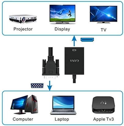 GANA VGA a HDMI Adaptador Conversor Cable con Audio 1080P,PC a TV Conexión de VGA Laptop a HDMI Monitor HDTV Projector: Amazon.es: Electrónica