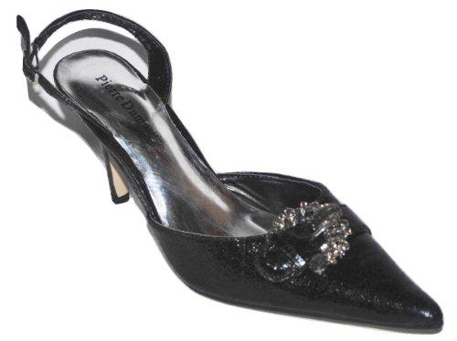 Black Crystals Slingback 4 Pierre Pump Womens with Dumas Suzy nwaz8z0Uq