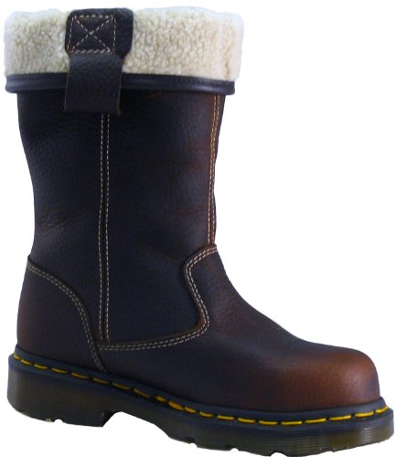 Dr Martens Rosa ST Sicherheit Stiefel Damen Footwear Pull On Leder Casual Teak - 8