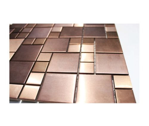 Kupfer-Look Edelstahl Mosaik Glasmosaik Fliesen Wand Boden Edelstahl-Mosaik 1 Matte
