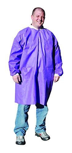 (High Five AL396 Series AL39 SMS Lab Coat, Purple, 3 Pockets, 3X-Large (Case of 30))