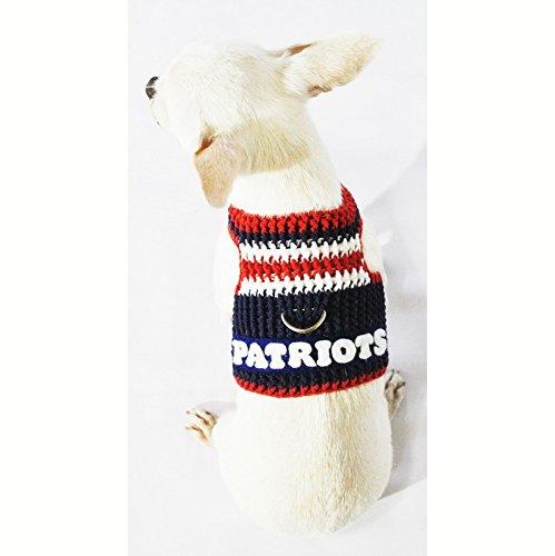 best cheap 1356f 4038b New England Patriots Dog Harness NFL Dog Clothes Super Bowl ...