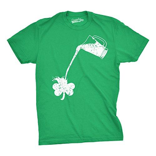 Pouring Shamrock T Shirt Funny Saint Patricks Day Shirt (green) L (Day Patricks Vintage St)