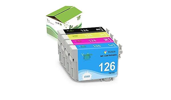 Black,3-Pack ,Used in Workforce 435 520 635 WF-3520 WF-3530 WF-7010 WF-7510 WF-7520 Stylus NX430 Printer Yumagenta Remanufactured Ink Cartridge Replacement for Epson 126 T126 Ink