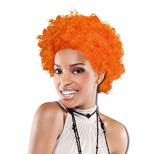 Windy City Novelties Afro Costume Wig 70's 80's Disco Theme (Orange) ()