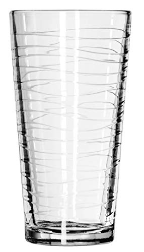 (Libbey DuraTuff Wave Casual Cooler Glass, 20 Ounce - 12 per case)