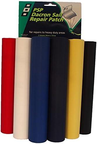 Sail,kites repair patchs x 2  White self adhesive fabric 30 cm x 20 cm.