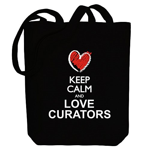 Curators calm and Canvas chalk love Tote Occupations Idakoos style Bag Keep PIUq66