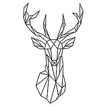 Gracefulvara Geometric Deer Head Wall Stickers Home DIY Art Decal