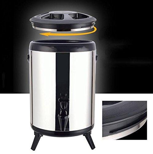 SQL 304 de acero inoxidable doble aislados barril leche tetera máquina de jugo de café 8L . coffee: Amazon.es: Hogar