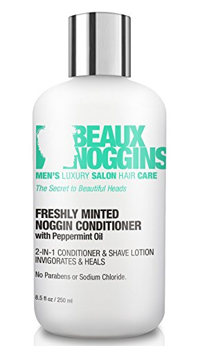 Best 2-in-1 HAIR CONDITIONER + SHAVE CREAM FOR MEN w/ Peppermint Oil - Dandruff Treatment Heals & Soothes Dry Itchy Scalp - Natural Care for Hair Loss & Regrowth - Moisturizes Hair, Scalps & Beards ()