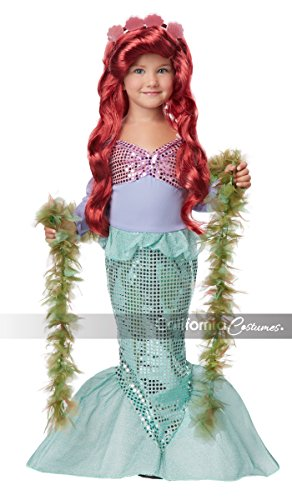 Lil' Mermaid Girl's Costume, Large, One -