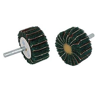 2pcs eDealMax 6 mm Vástago 50mm Dia cabeza cilíndrica de fibra de Nylon Abrasivas ruedas