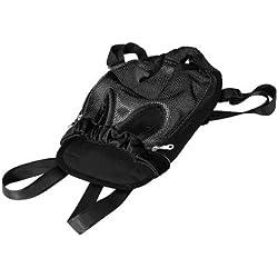 SODIAL(R) Mochila Bolsa para Perro Gato Mascota Viaje Color Negro Talla L