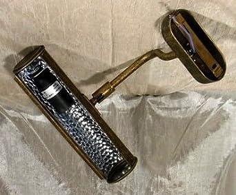 Applique ad una luce da parete lettura quadro in ottone anticato