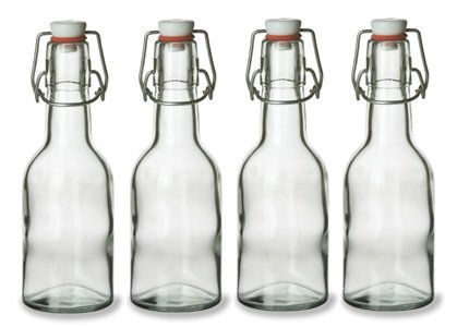 Nakpunar Swing Top Glass Bottles, 8.5 Ounce - Set of 4