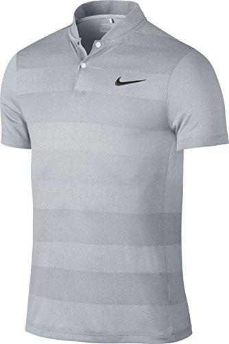 Nike mm Fly Swing Knit Stripe Polo Herren XXL Grau/Schwarz