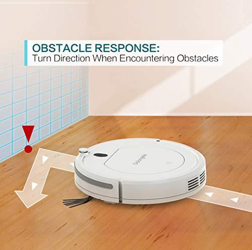 Golongele Robot aspirateur super fin, multiples, avec télécommande, robot de nettoyage pour poils de chien et sols durs